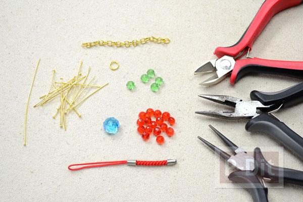 รูป 2 สอนทำพวงกุญแจ แขวนโซ่ ลูกปัดสีสวย