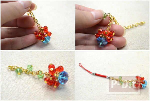 รูป 4 สอนทำพวงกุญแจ แขวนโซ่ ลูกปัดสีสวย