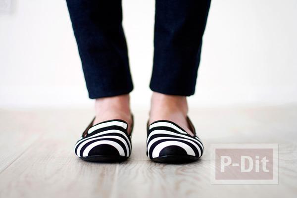 รูป 2 รองเท้าลายสวยๆ ทำเองแบบง่ายๆ
