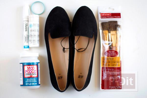 รูป 3 รองเท้าลายสวยๆ ทำเองแบบง่ายๆ