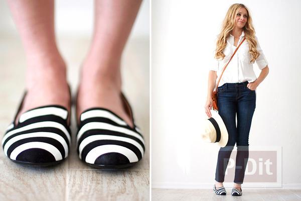 รูป 6 รองเท้าลายสวยๆ ทำเองแบบง่ายๆ