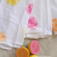 ปั้มลายผ้าสวยๆ ด้วยลูกมะนาว