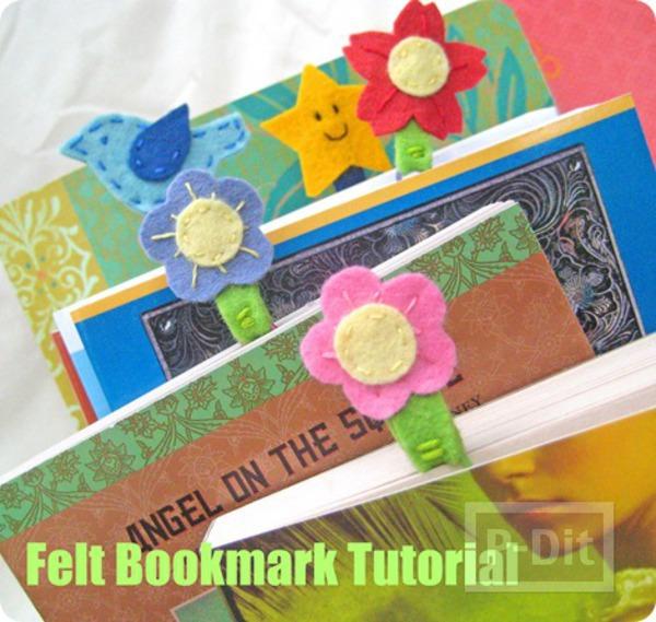 รูป 1 ทำที่คั่นหนังสือ ลายดอกไม้ สัตว์ ประดับคลิป