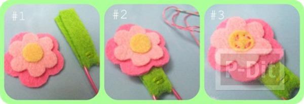 รูป 2 ทำที่คั่นหนังสือ ลายดอกไม้ สัตว์ ประดับคลิป