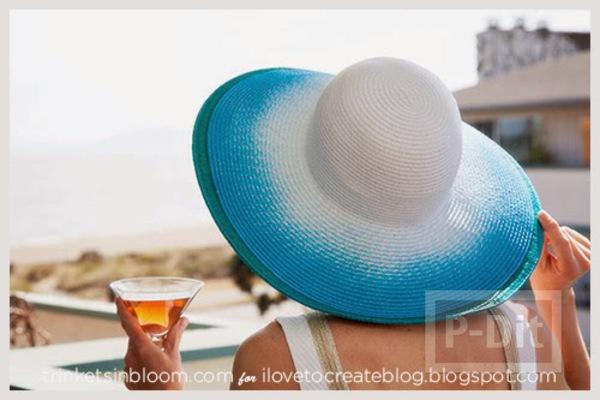 รูป 1 พ่นสี หมวกสวย เดินชายหาด