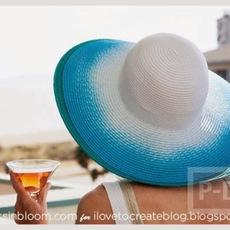 พ่นสี หมวกสวย เดินชายหาด