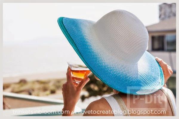 รูป 4 พ่นสี หมวกสวย เดินชายหาด