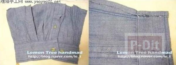 รูป 4 รองเท้าใส่ในบ้าน ทำจากแขนเสื้อเชิ๊ต