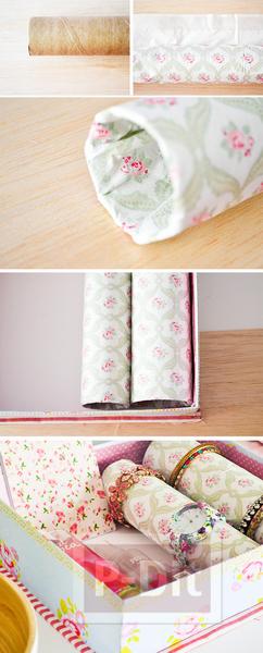 รูป 6 ที่ใส่กำไลข้อมือ ทำจากแกนกระดาษทิชชู
