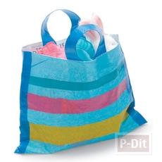 ถุงใส่ของ ทำจากถุงพลาสติกเก่าๆ