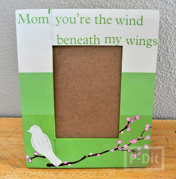 รูป 4 ของขวัญวันแม่ กรอบรูป เขียนข้อความสั้นๆ