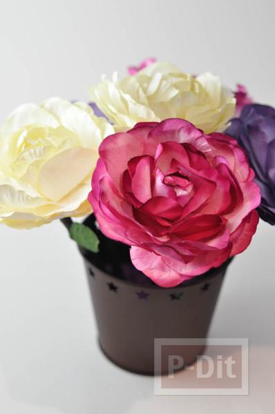 รูป 2 ดินสอไม้ ประดับดอกไม้ประดิษฐ์