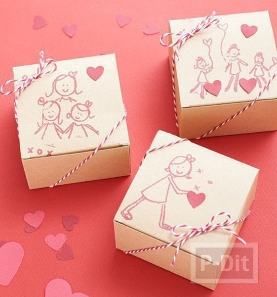รูป 1 กล่องของขวัญน่ารักๆ สำหรับแม่