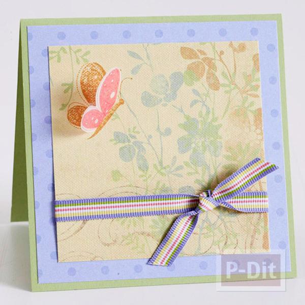 รูป 5 การ์ดวันแม่สวยๆ พร้อมแจกันดอกไม้ สีหวาน