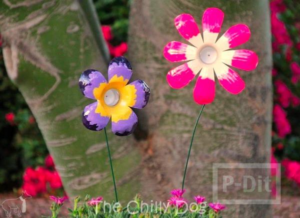 รูป 1 ดอกไม้ ทำจากขวดน้ำพลาสติก