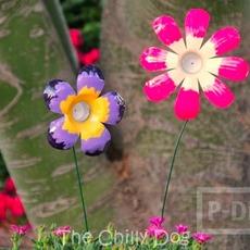 ดอกไม้ ทำจากขวดน้ำพลาสติก