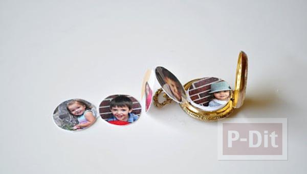 รูป 1 ไอเดียของขวัญวันแม่ รูปแบบพกพา ติดในที่เก็บนาฬิกาเล็กๆ
