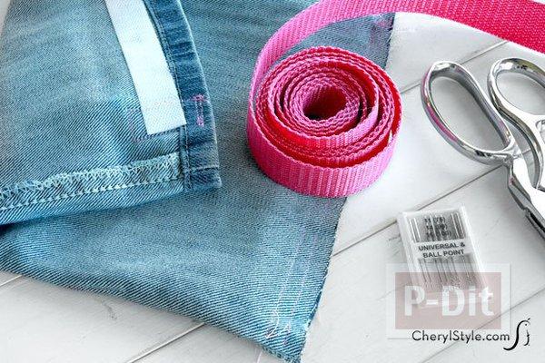 รูป 2 ถุงผ้า ทำจากขากางเกงยีนส์