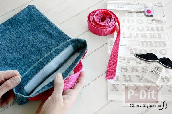 รูป 3 ถุงผ้า ทำจากขากางเกงยีนส์