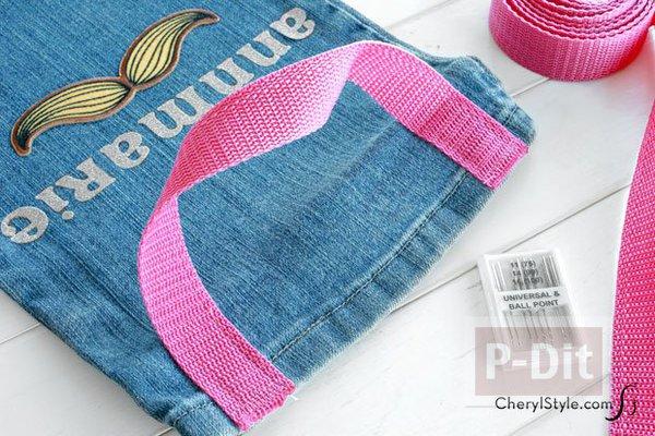 รูป 4 ถุงผ้า ทำจากขากางเกงยีนส์