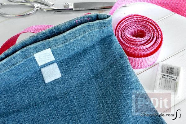 รูป 5 ถุงผ้า ทำจากขากางเกงยีนส์