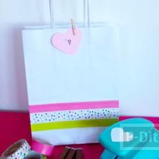 ถุงของขวัญ ตกแต่งสีสวย ด้วยสก็อตเทป