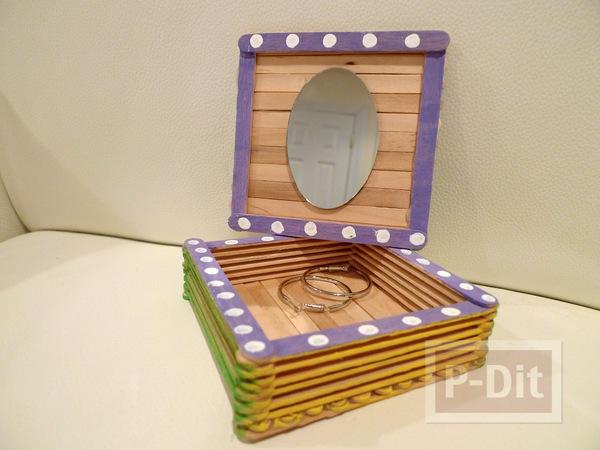 รูป 2 สอนทำกล่องใส่เครื่องประดับ จากไม้ไอติม