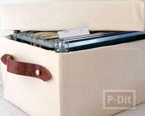 รูป 1 ตกแต่งกล่องใส่เอกสาร จากกล่องเก่าๆ