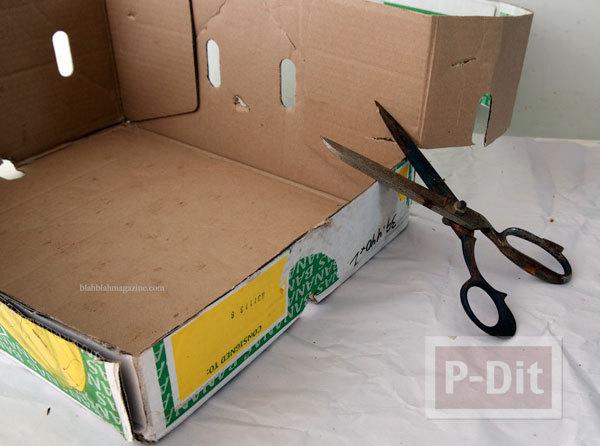 รูป 2 ตกแต่งกล่องใส่เอกสาร จากกล่องเก่าๆ