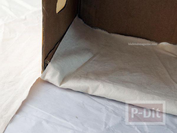รูป 6 ตกแต่งกล่องใส่เอกสาร จากกล่องเก่าๆ