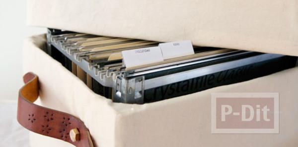รูป 7 ตกแต่งกล่องใส่เอกสาร จากกล่องเก่าๆ