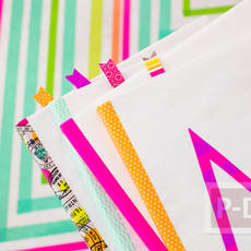 ปกหนังสือสวย ด้วยกระดาษสีขาว ประดับสก็อตเทปสีสด
