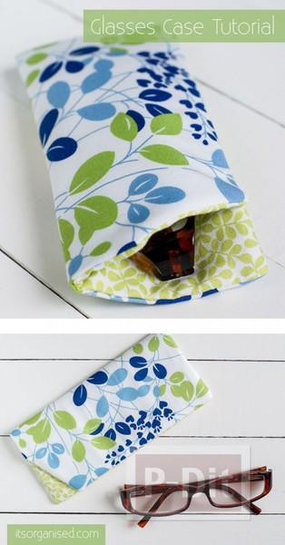 รูป 4 ซองใส่แว่นตา ทำจากผ้านิ่มๆ