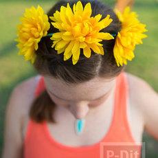 ที่คาดผมดอกไม้ประดิษฐ์ สีสวย สดใส
