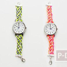 สายนาฬิกาสวยๆ ถักเชือกสีสด