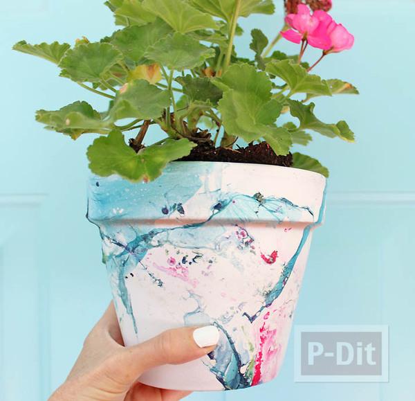 รูป 4 กระถางดอกไม้ ตกแต่งสีสวย ด้วยสีทาเล็บ