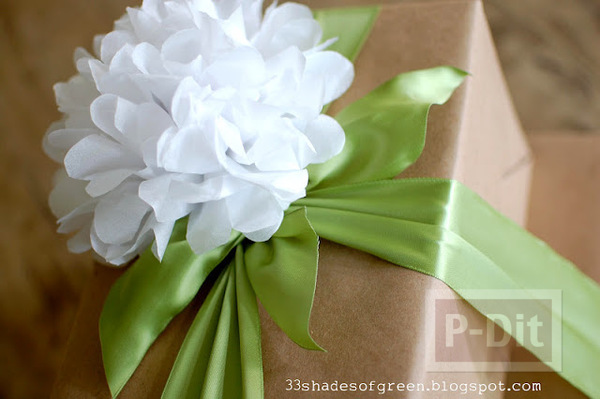 ทำดอกมะลิ ประดับกล่องของขวัญ