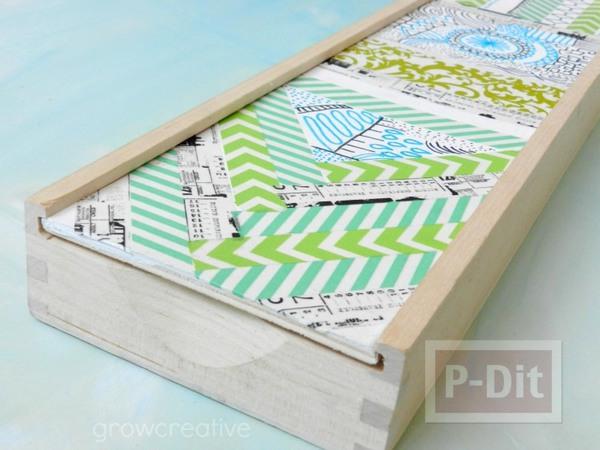รูป 5 กล่องใส่ช็อคโกแลต นำมาตกแต่งใหม่ ใส่แปรงทาสี