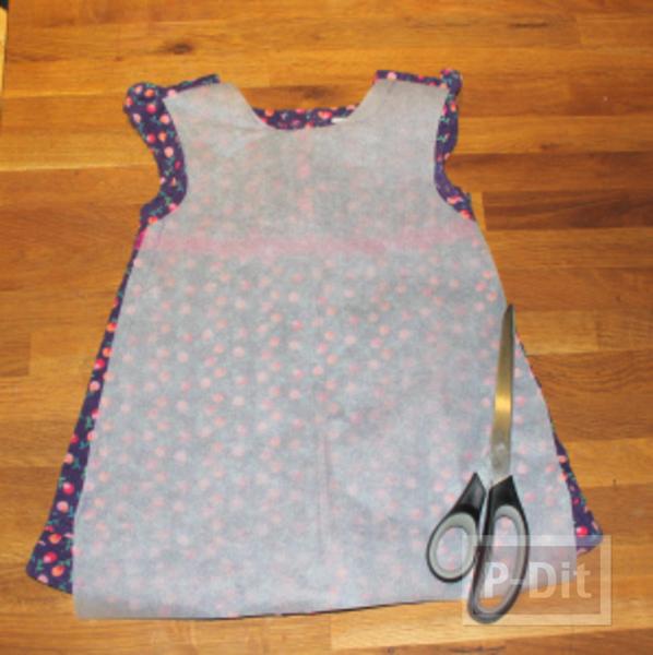 รูป 2 เย็บชุดเดรสเด็ก จากเสื้อทำงานพ่อ