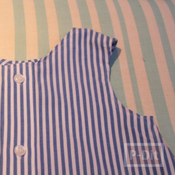 รูป 3 เย็บชุดเดรสเด็ก จากเสื้อทำงานพ่อ