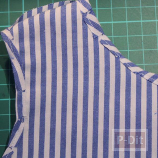 รูป 5 เย็บชุดเดรสเด็ก จากเสื้อทำงานพ่อ