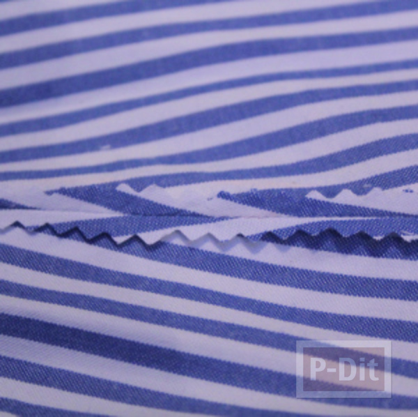 รูป 6 เย็บชุดเดรสเด็ก จากเสื้อทำงานพ่อ