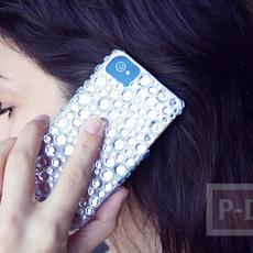 เคสไอโฟน ตกแต่งลายสวย ด้วยเม็ดพลาสติกใส