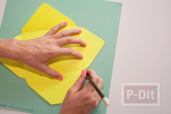 รูป 3 ซองจดหมาย เย็บลายสวย จากจักรเย็บผ้า