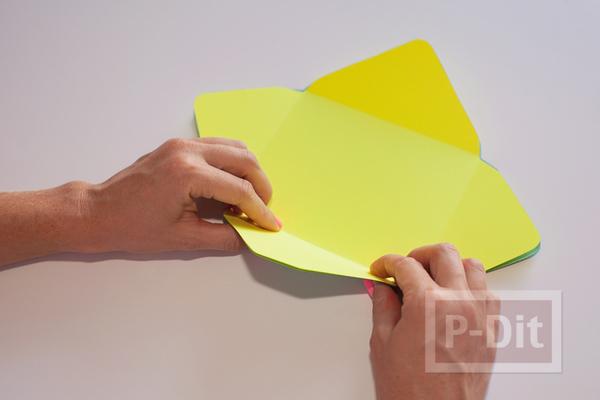 รูป 5 ซองจดหมาย เย็บลายสวย จากจักรเย็บผ้า
