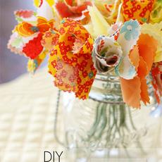 ดอกไม้ผ้า สีสวย ประดับบ้าน