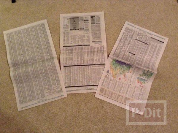 รูป 3 ชุดเดรสสวยๆ ทำจากกระดาษนิตยสาร
