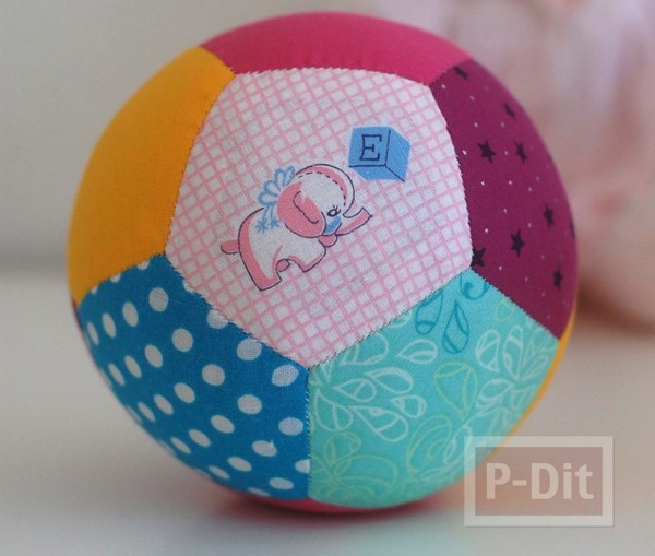 เย็บลูกบอลนิ่มๆ ให้ลูกเล่น