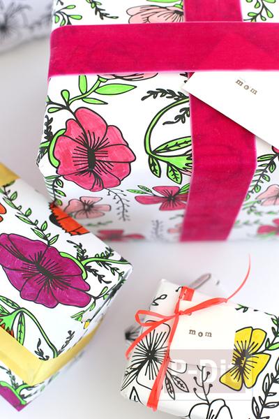รูป 2 กระดาษห่อของขวัญ ระบายสีสวย