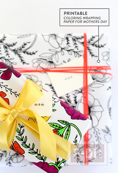 รูป 4 กระดาษห่อของขวัญ ระบายสีสวย